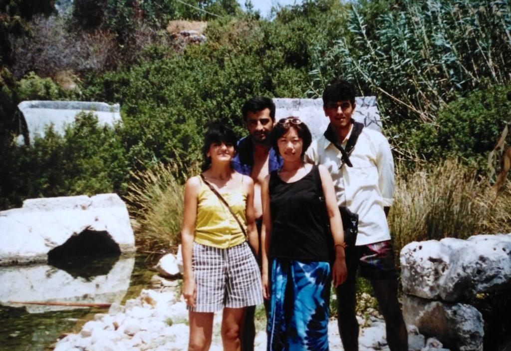 トルコ人の家族と一緒に