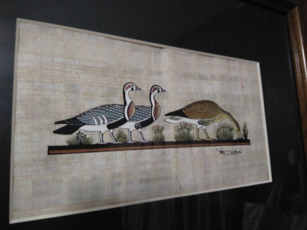 パピルスに描かれた鳥