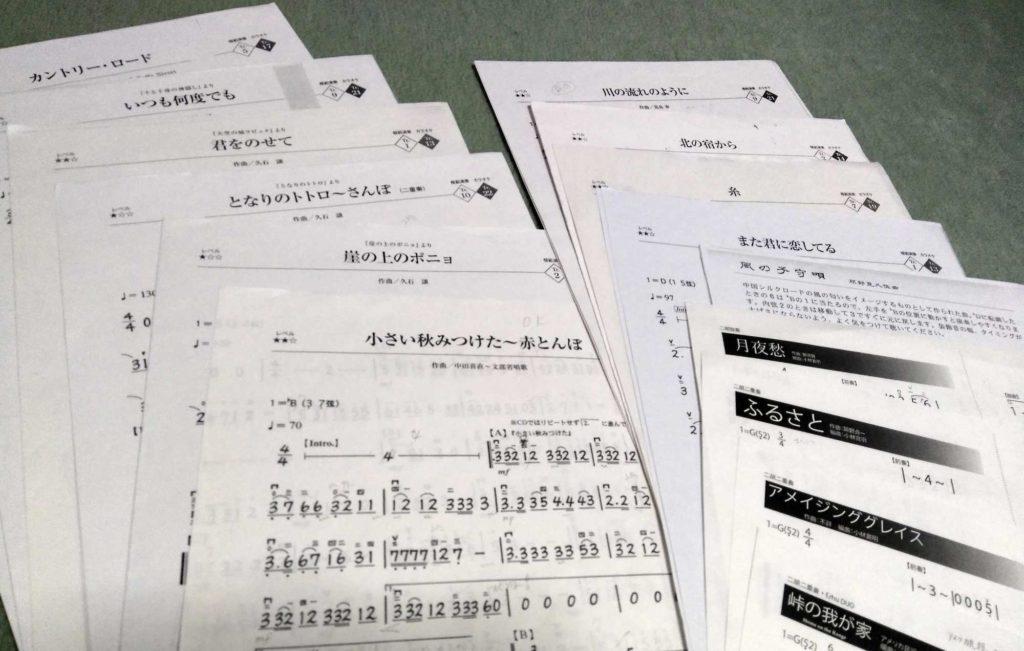 熊本用の二胡楽譜