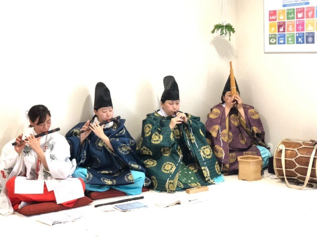 チャリティー音楽祭 伊奈冨神社雅楽会有志