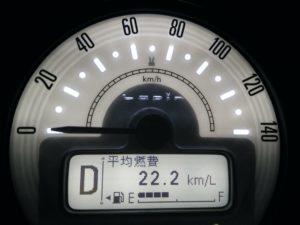 ラパン燃費22.2km/L