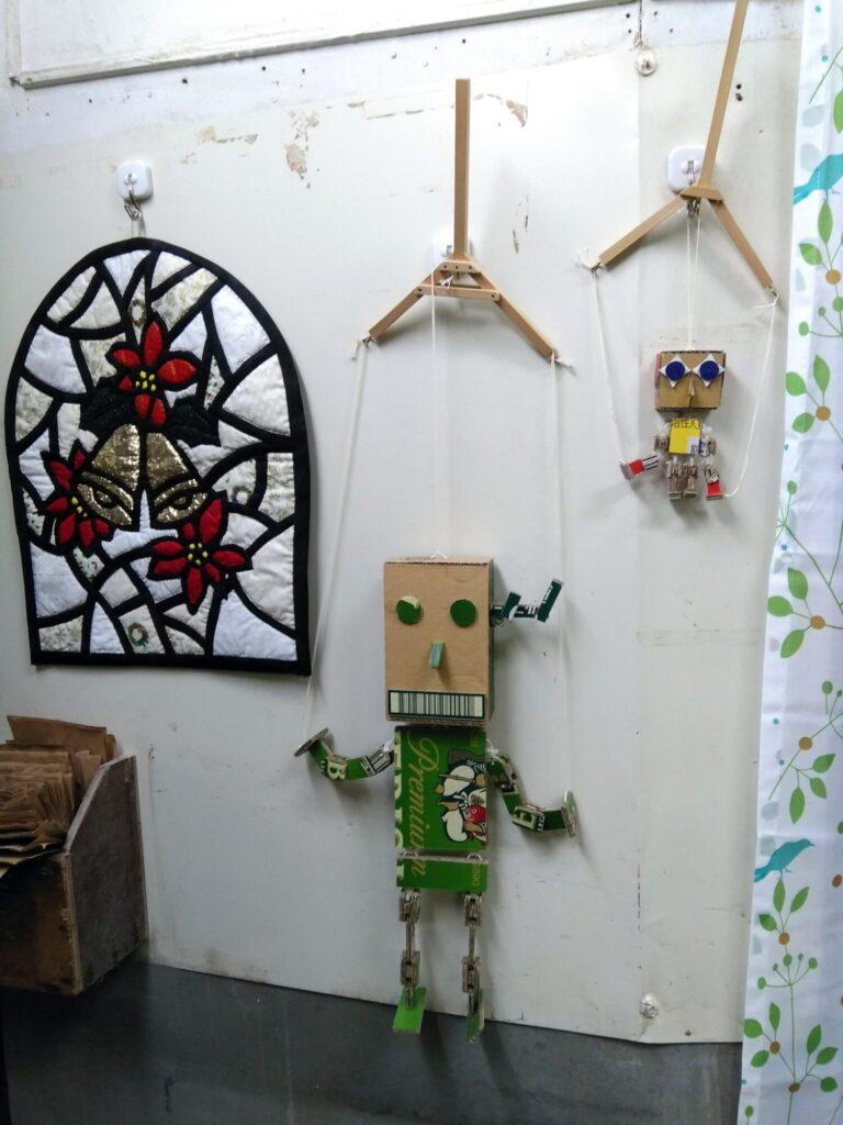 まるもりhouse展示品(ダンボールロボット)