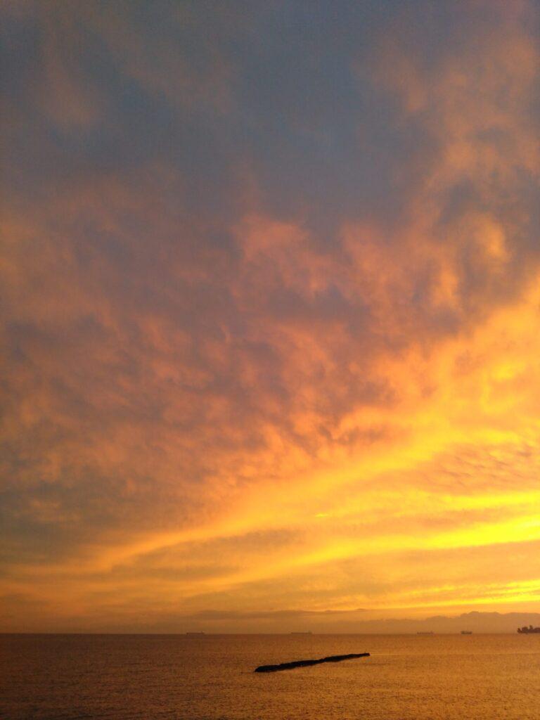 金色の夕焼け